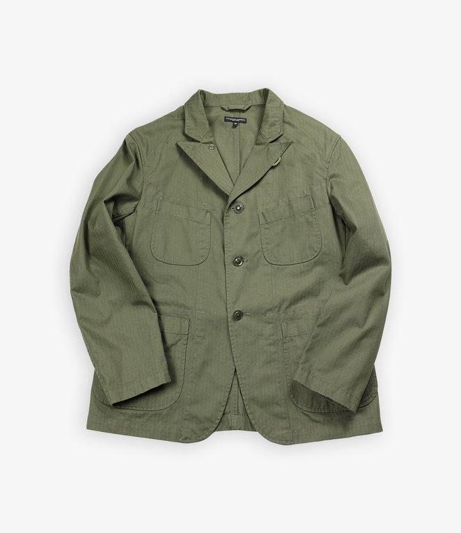 Engineered Garments Bedford Jacket - Olive Cotton Herringbone Twill