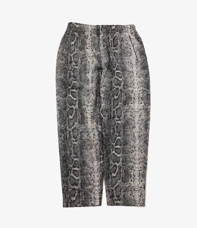 Engineered Garments Jog Pant - Grey Poly Wool Snake Print Knit