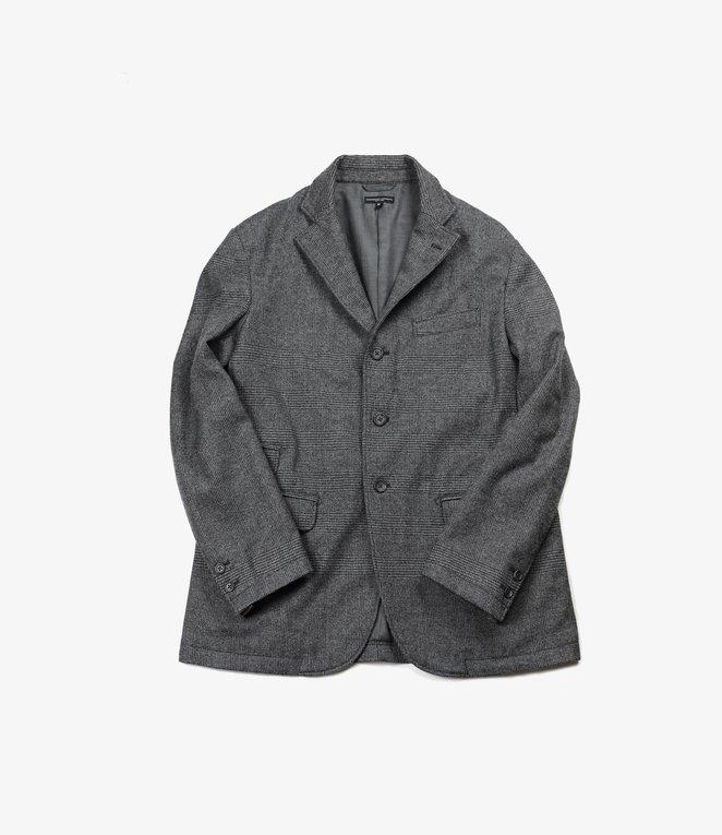 Engineered Garments Lawrence Jacket - Grey Wool Glen Plaid Stripe