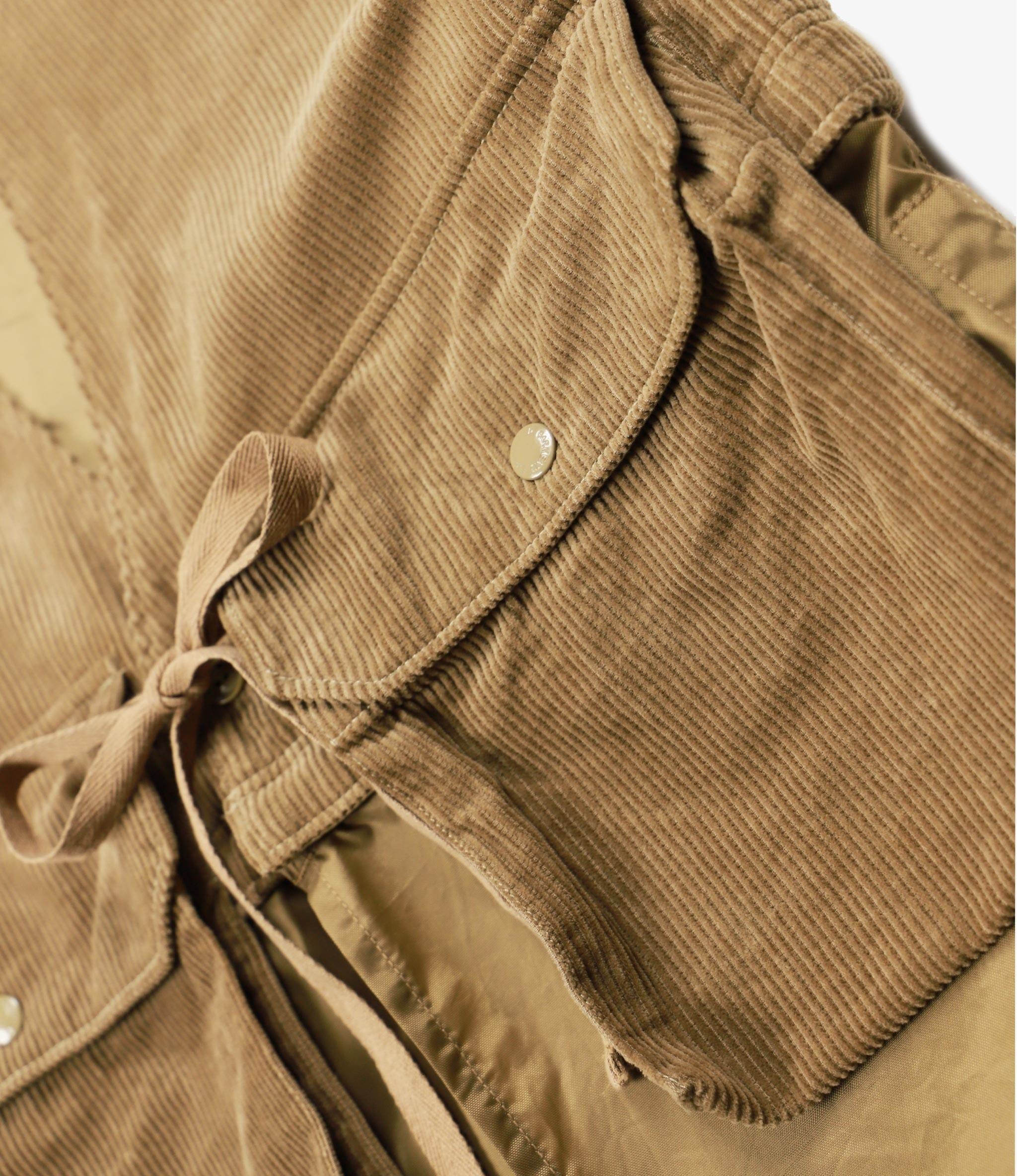 Engineered Garments Long Fowl Vest - Khaki 8W Corduroy