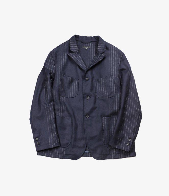 Engineered Garments NB Jacket - Dk.Navy Wool Chalk Stripe