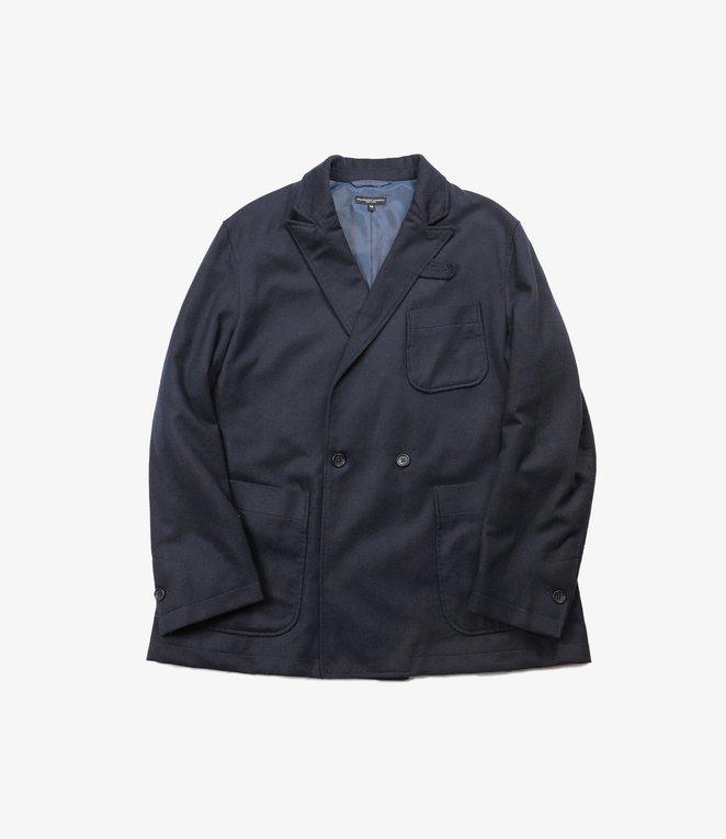 Engineered Garments Newport Jacket - Dk.Navy Wool Cotton Flannel