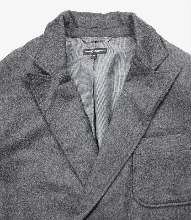Engineered Garments Newport Jacket - Grey Wool Cotton Flannel