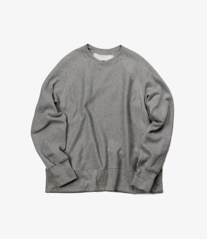 Engineered Garments Raglan Crew - H.Grey CP Fleece
