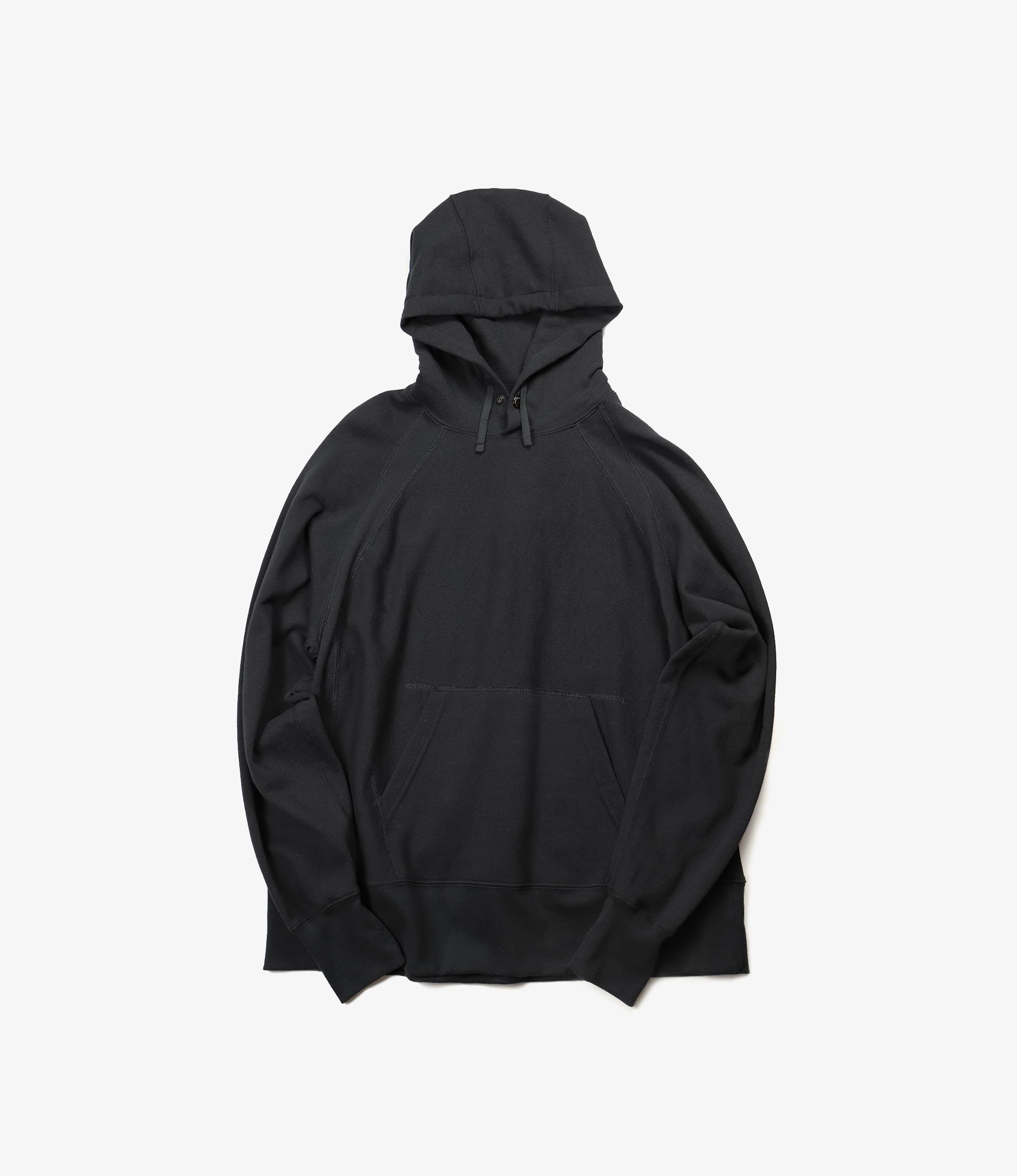 Engineered Garments Raglan Hoody - Black Cotton Fleece