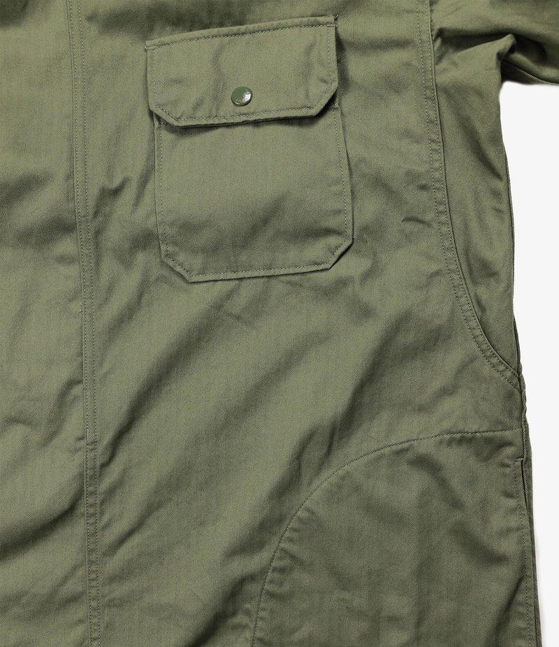 Engineered Garments Sonor Shirt Jacket - Olive Cotton Herringbone Twill