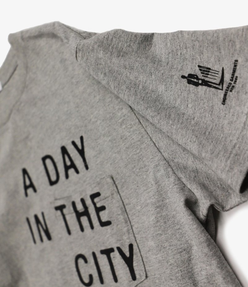 Engineered Garments Printed Cross Crew Neck T-shirt - Grey - A Day