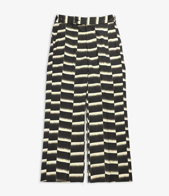 Needles Side Tab Trouser - Wool Gabardine / Print - Black