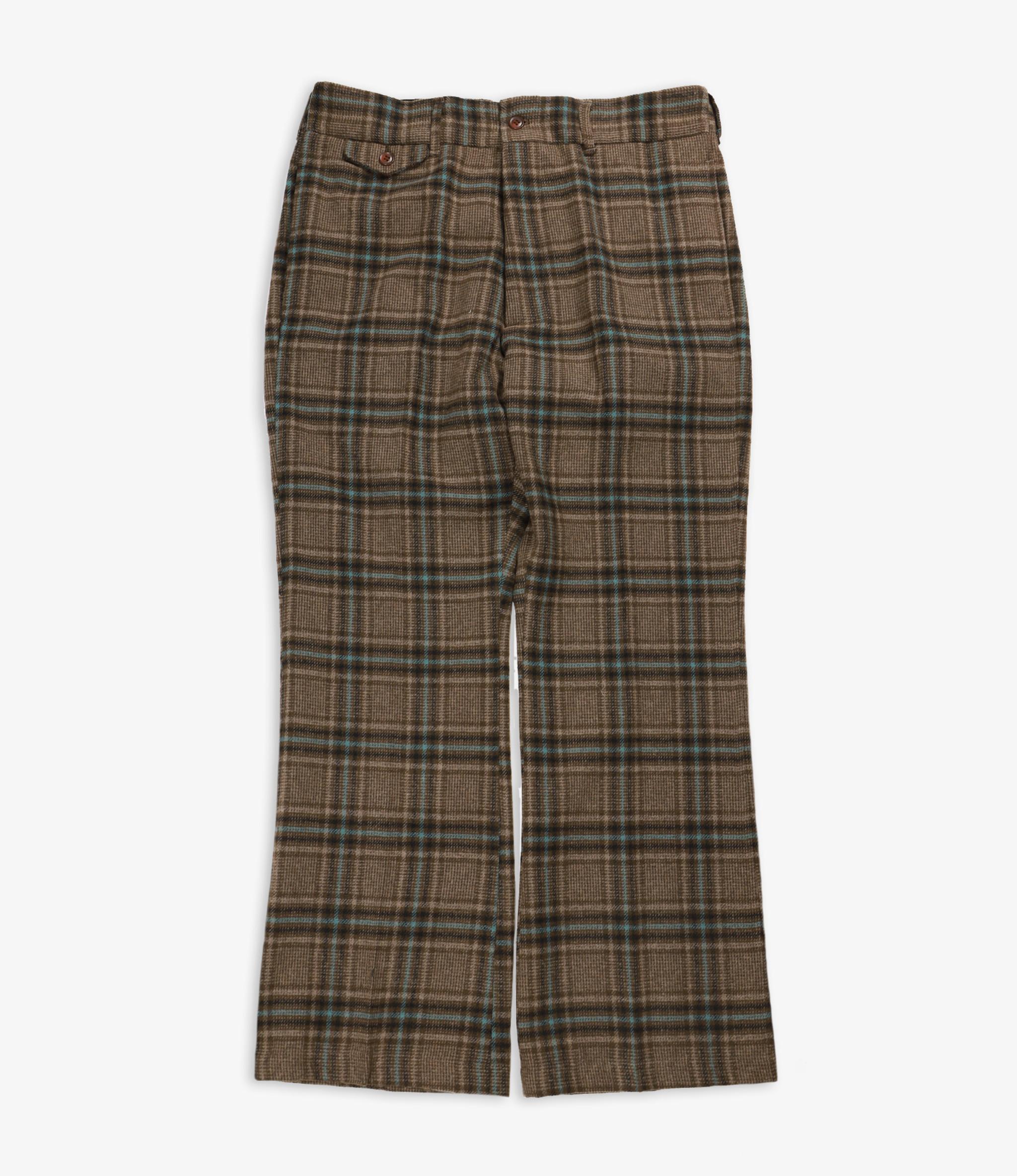 Needles F.P. Boot-Cut Trouser - Plaid Tweed - Brown