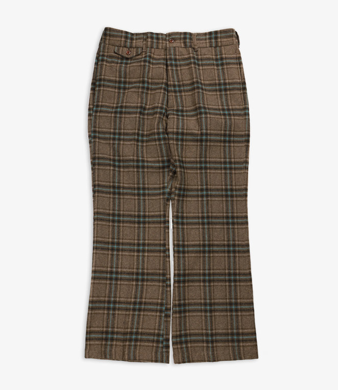 Needles F.P. Boot-Cut Trouser - Plaid Tweed - Brown