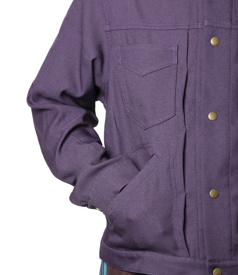 Needles Penny Jean Jacket - Poly Twill - Purple