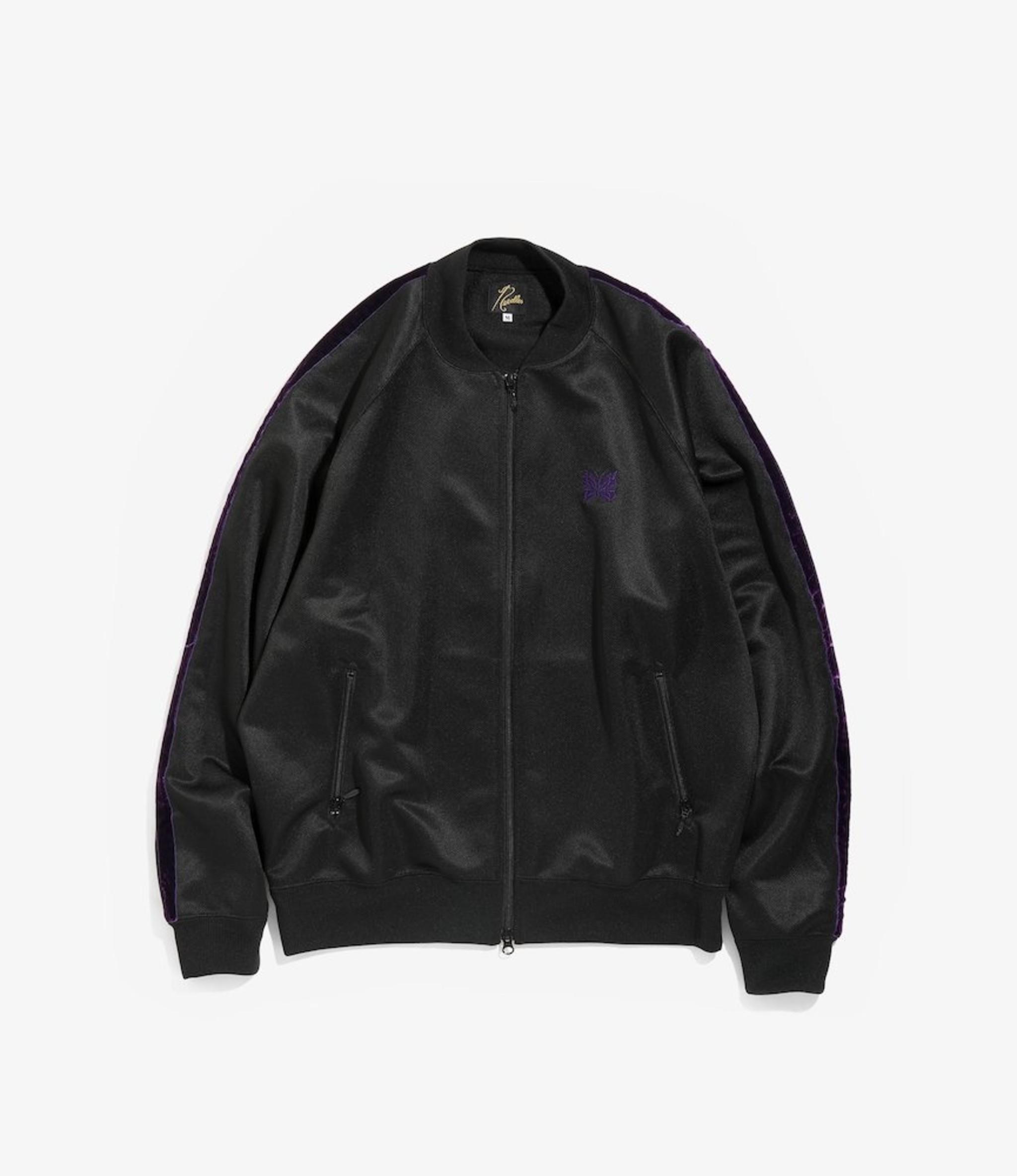 Needles S.L. Rib Collar Jacket - Bright Jersey - Black/Purple