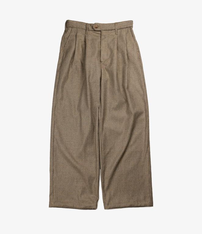 Engineered Garments Emerson Pant - Brown Wool Poly Gunclub Check