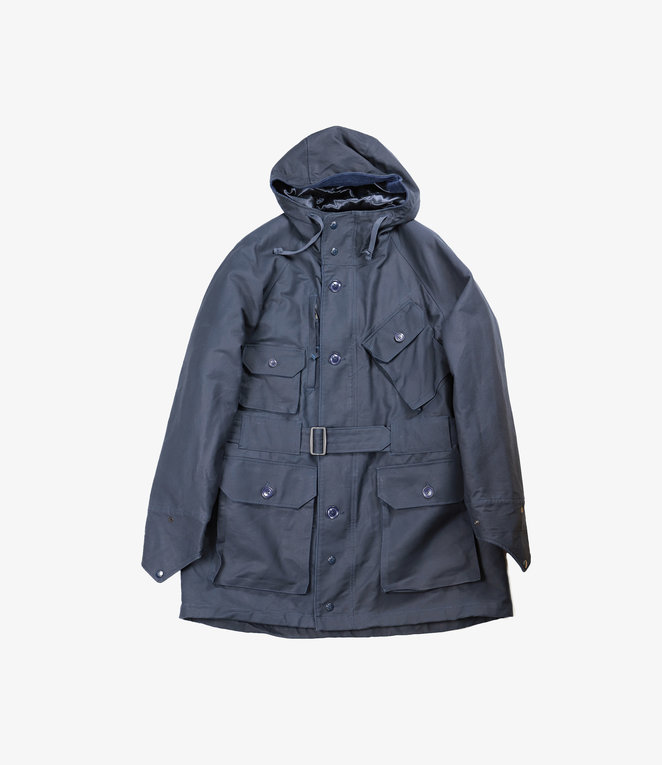 Engineered Garments Field Parka - Navy Cotton Double Cloth