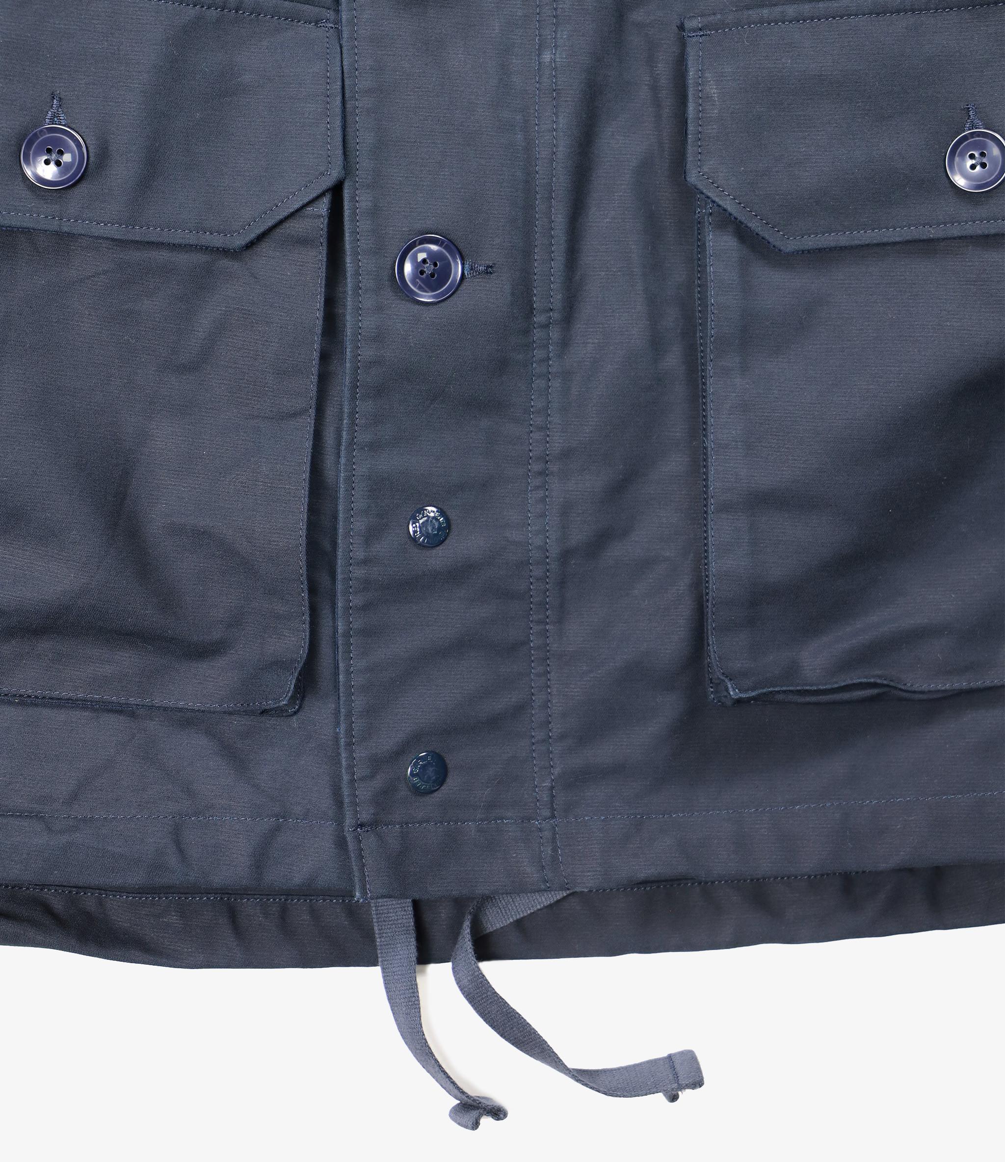 Engineered Garments Field Parka - Navy Cotton Double Cloth