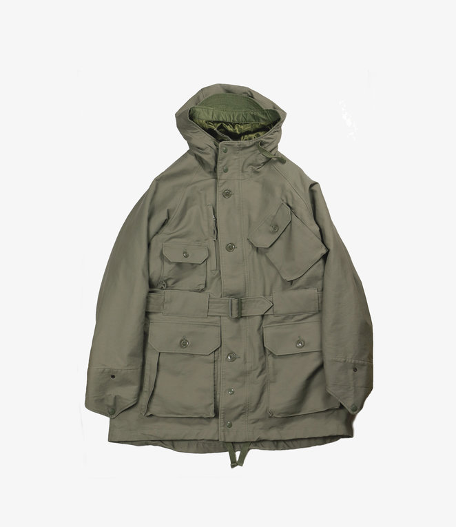 Engineered Garments Field Parka - Olive Cotton Double Cloth