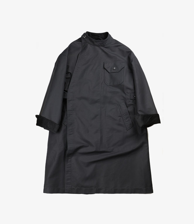 Engineered Garments MG Coat - Black Cotton Double Cloth