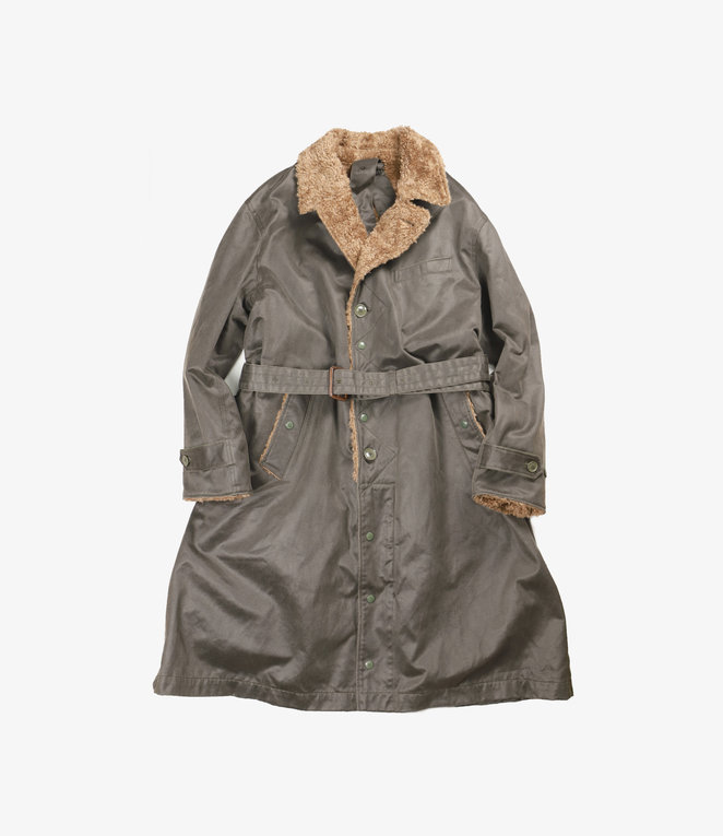 Engineered Garments Storm Coat - Dk.Olive Coated Twill