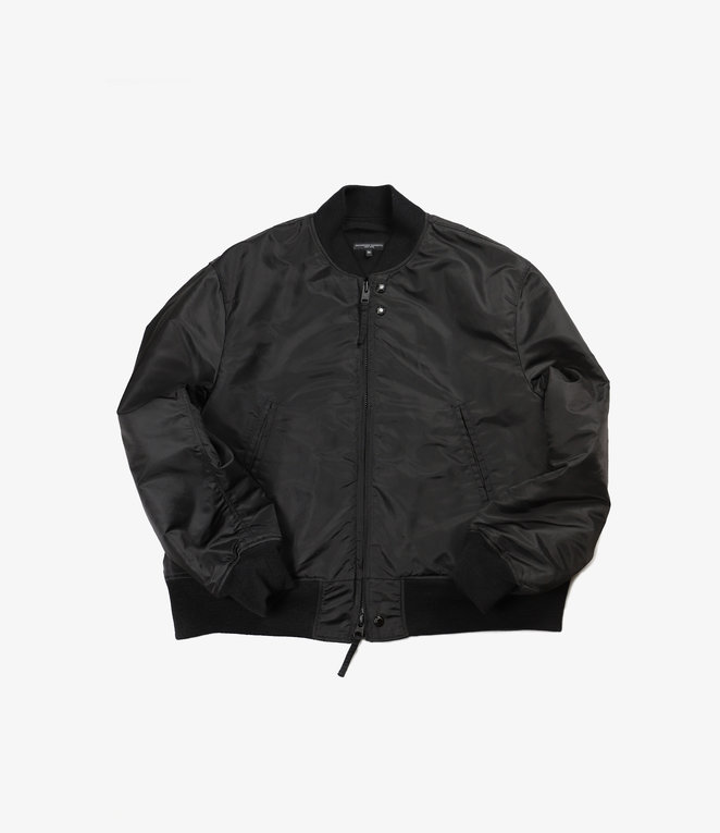 Engineered Garments SVR Jacket - Black Flight Satin Nylon
