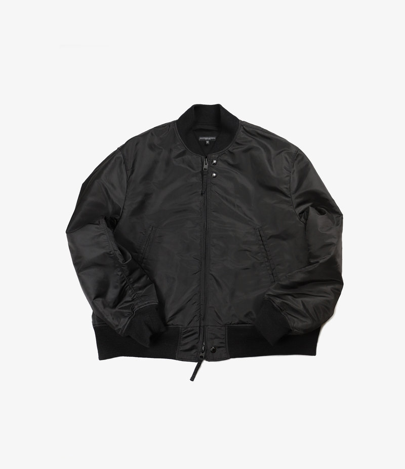 Engineered Garments SVR Jacket - Black Flight Satin Nylon