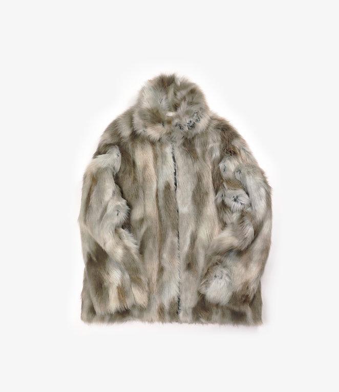 Needles Bomber Jacket - Acrylic Fur - GREY