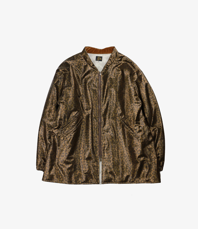 Needles S.C. Sur Coat - Faux Leather. / Leopard - Brown