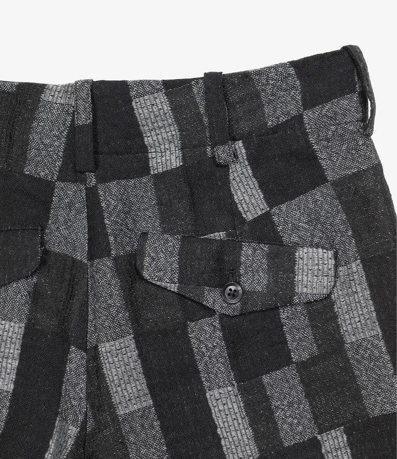 Needles F.P. B/C Trouser - Patchwork Jacquard Black