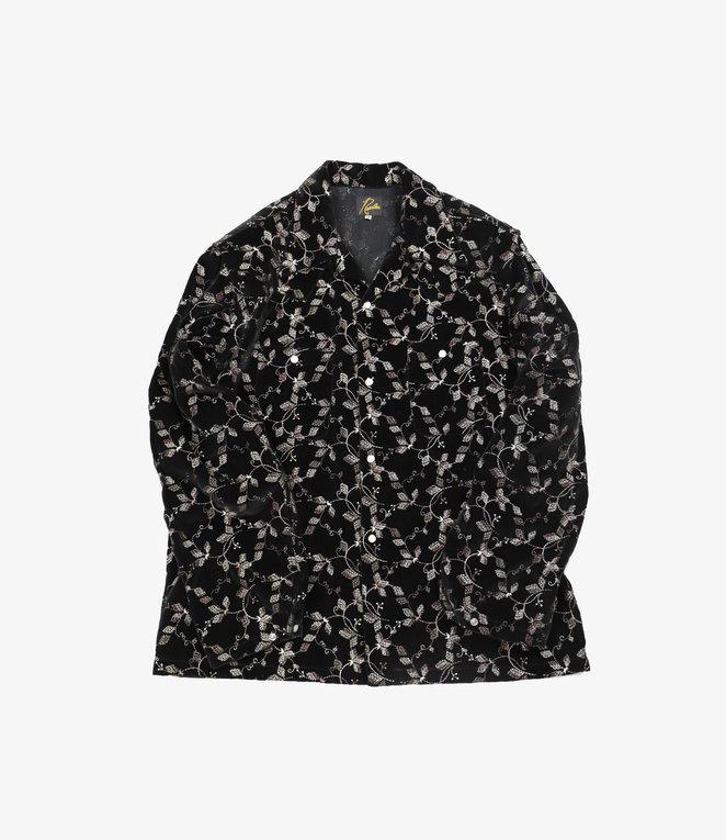 Needles One-Up Cowboy Shirt - Emb. Velvet - Black