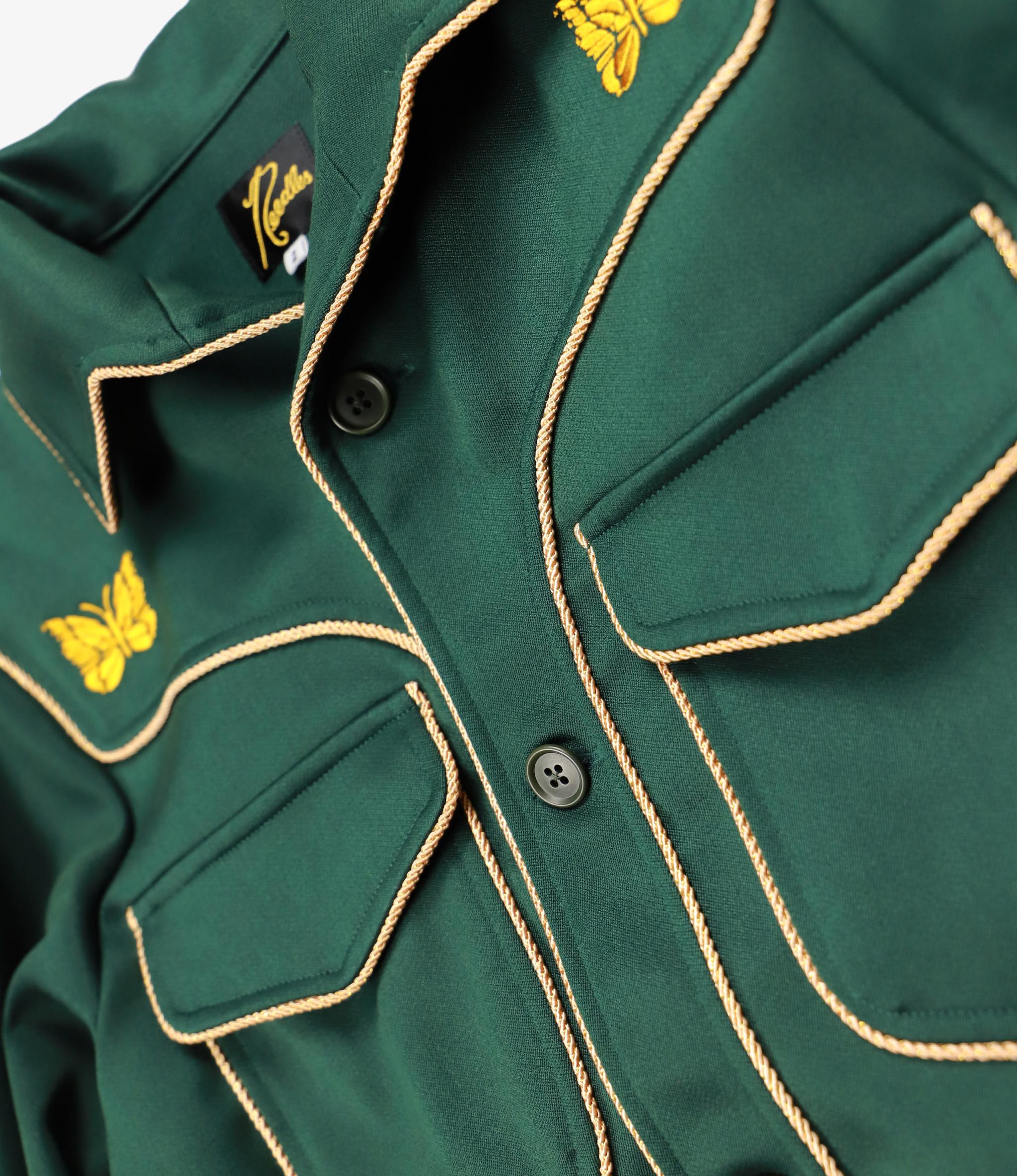 Needles Piping Cowboy Leisure Jacket - Pe/R Doeskin - Green