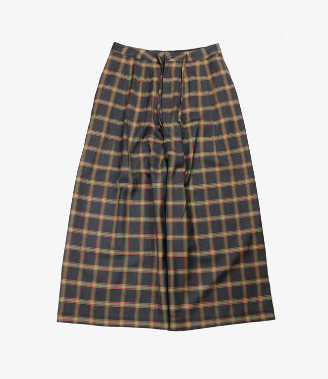 Needles Darts Military Pant - Plaid Twill - Charcoal