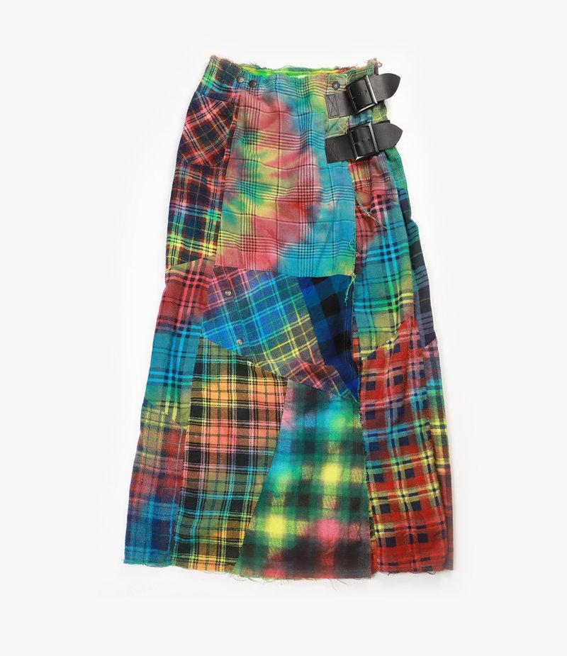 Rebuild by Needles Flannel Skirt - Wrap Skirt / Tie Dye - One Size 1