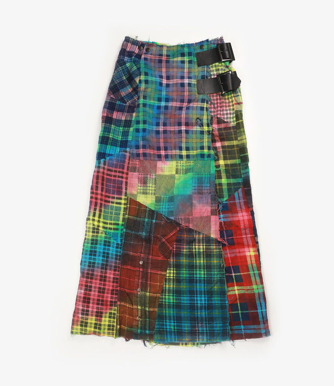 Rebuild by Needles Flannel Skirt - Wrap Skirt / Tie Dye - One Size 2