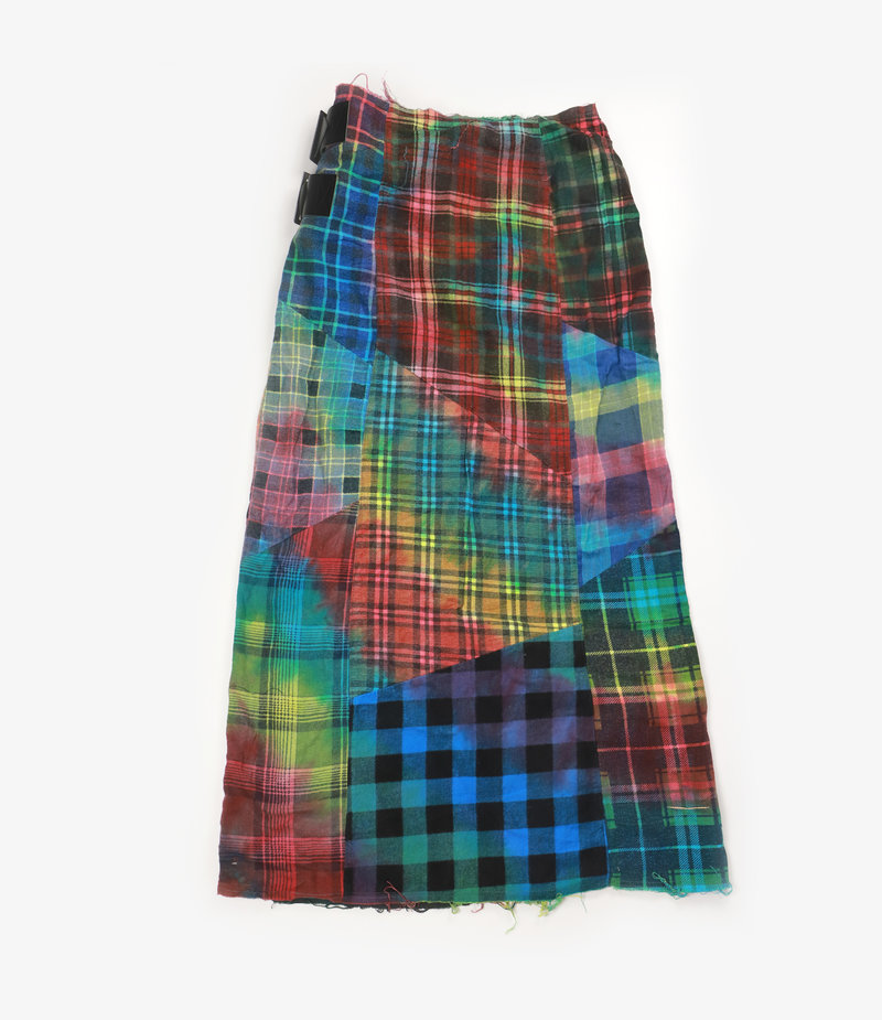 Rebuild by Needles Flannel Skirt - Wrap Skirt / Tie Dye - One Size 3