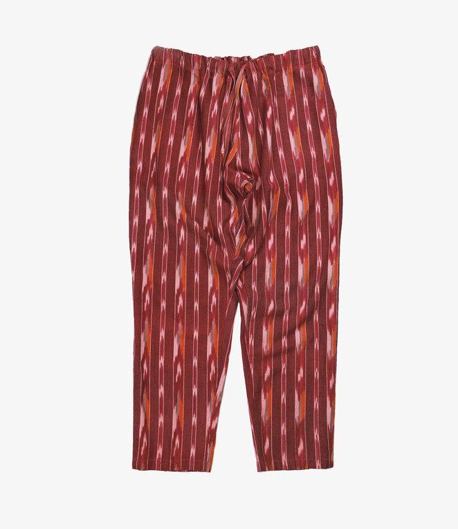 South2 West8 String Slack Pant - Ikat Pattern - Red