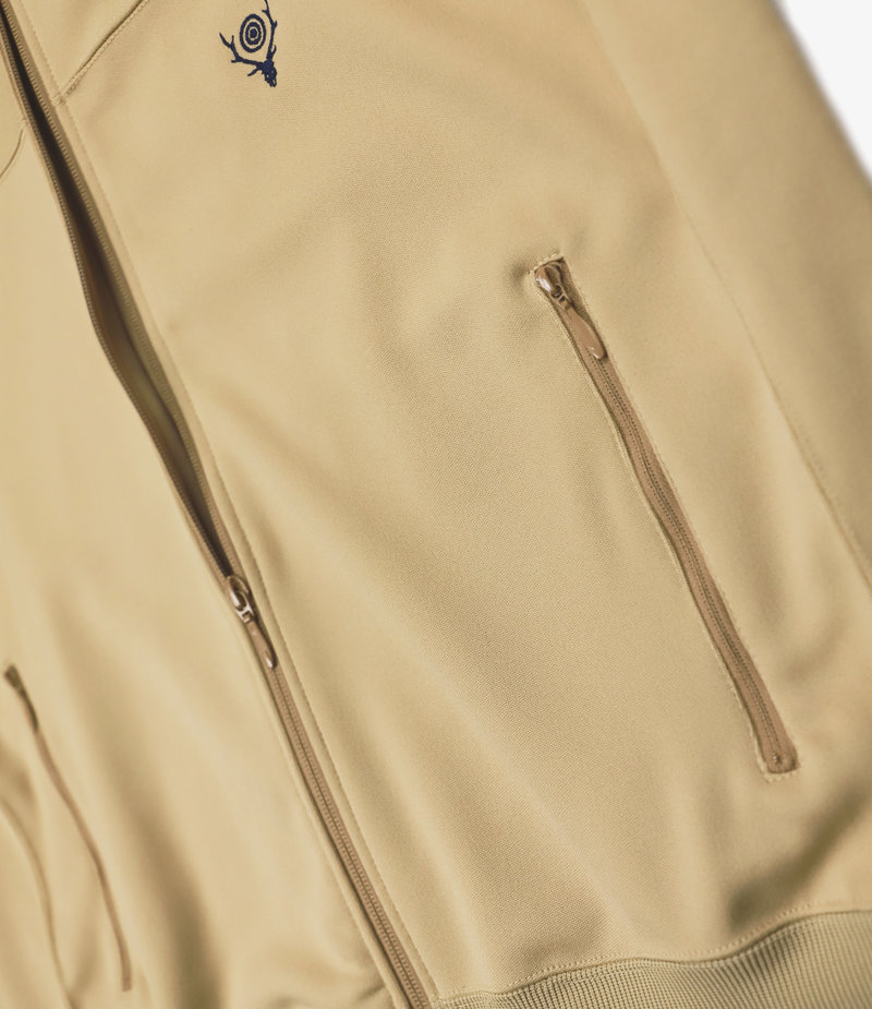 South2 West8 Trainer Jacket - Poly Smooth - Beige