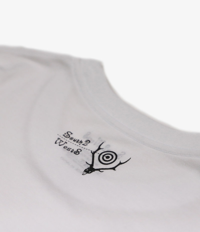 South2 West8 L/S Crew Neck Tee - HANDLE WITH CARE - White