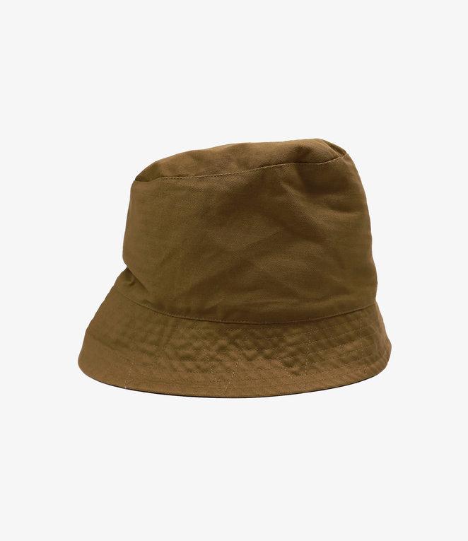 Engineered Garments Bucket Hat - Brown Cotton Herringbone Twill