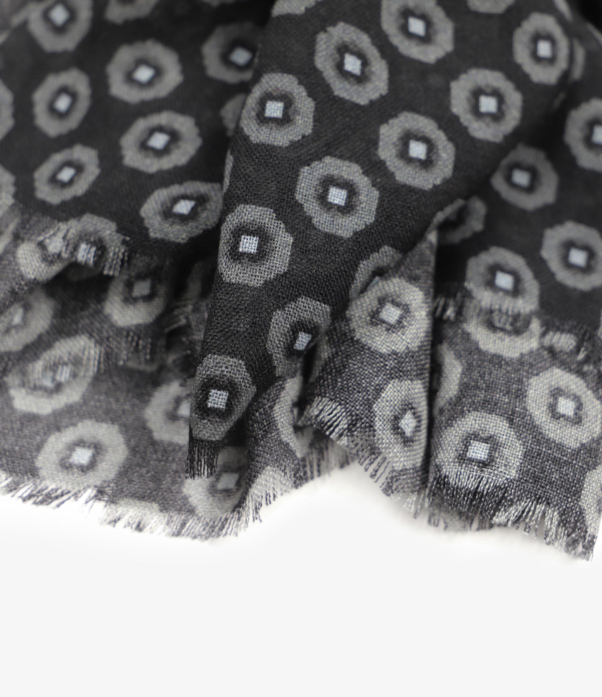 Engineered Garments Dress Scarf - Black/Grey Wool Gauze Foulard