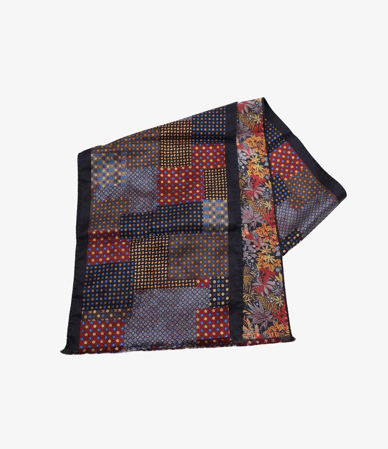 Engineered Garments Dress Scarf  - Grey Doublesided Silk Paisley