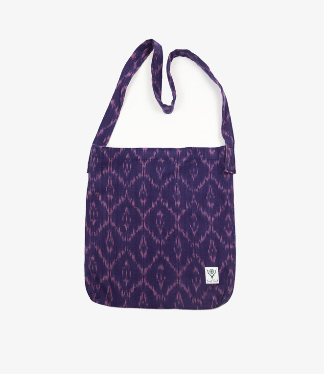 South2 West8 Book Bag - Ikat Pattern - Purple