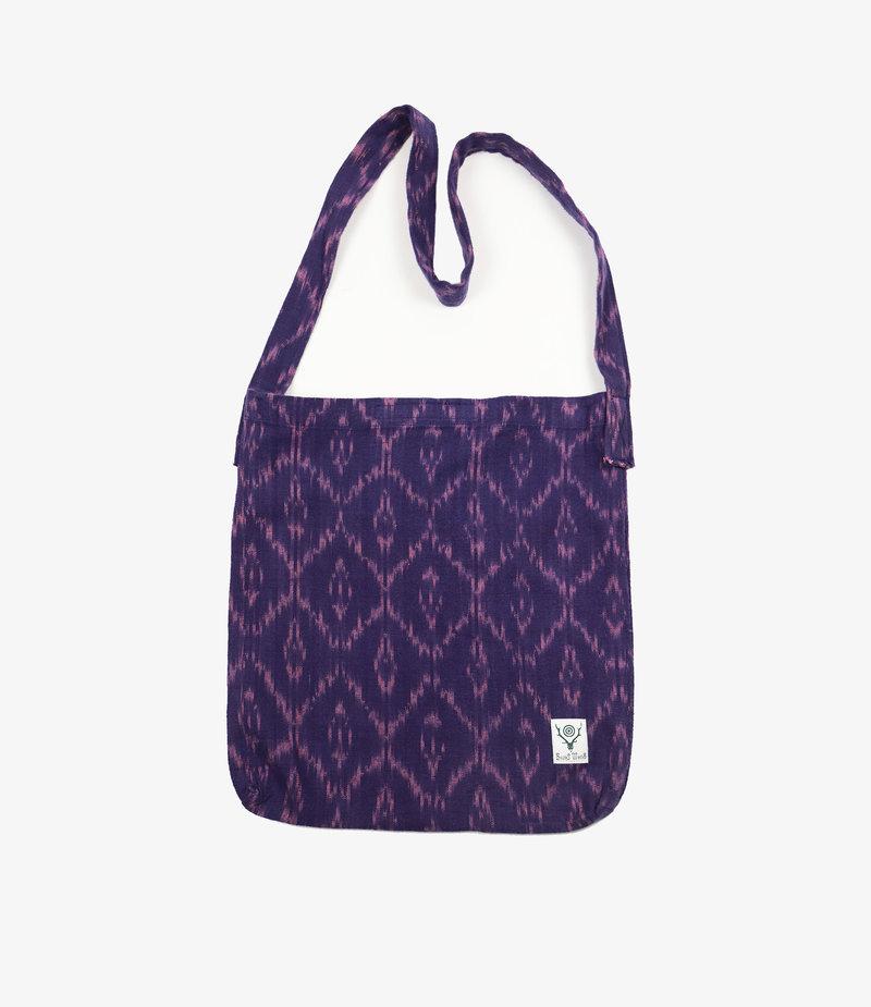 South2 West8 Book Bag - Ikat Pattern - Purple