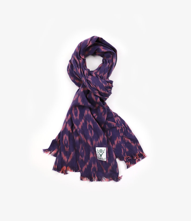 South2 West8 Stole - Ikat Pattern - Purple