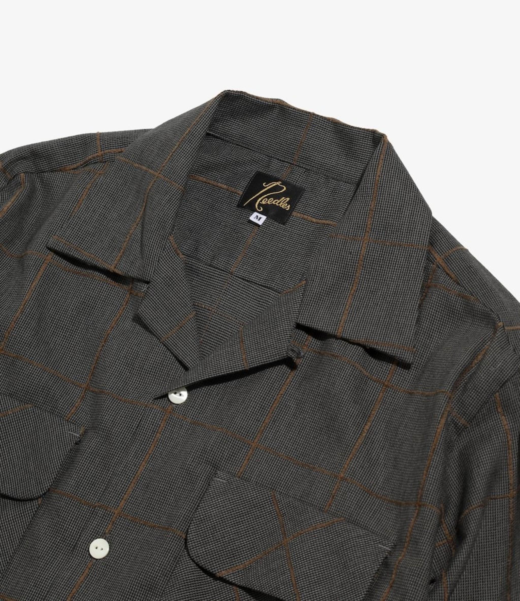Needles C.O.B. Classic Shirt -C/Pe/R Plaid Twill - Charcoal
