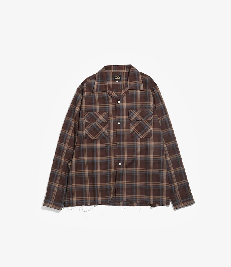 Needles C.O.B. Classic Shirt - R/Pe Plaid Twill - Brown