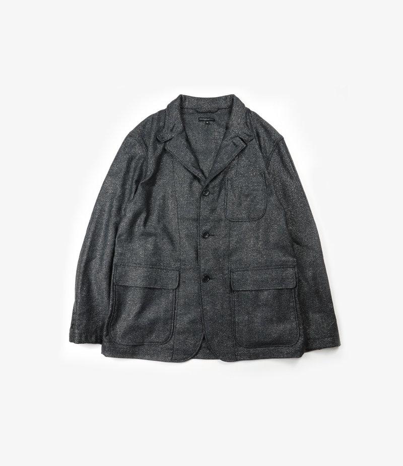Engineered Garments Loiter Jacket - Grey Wool Poly Lurex Herringbone