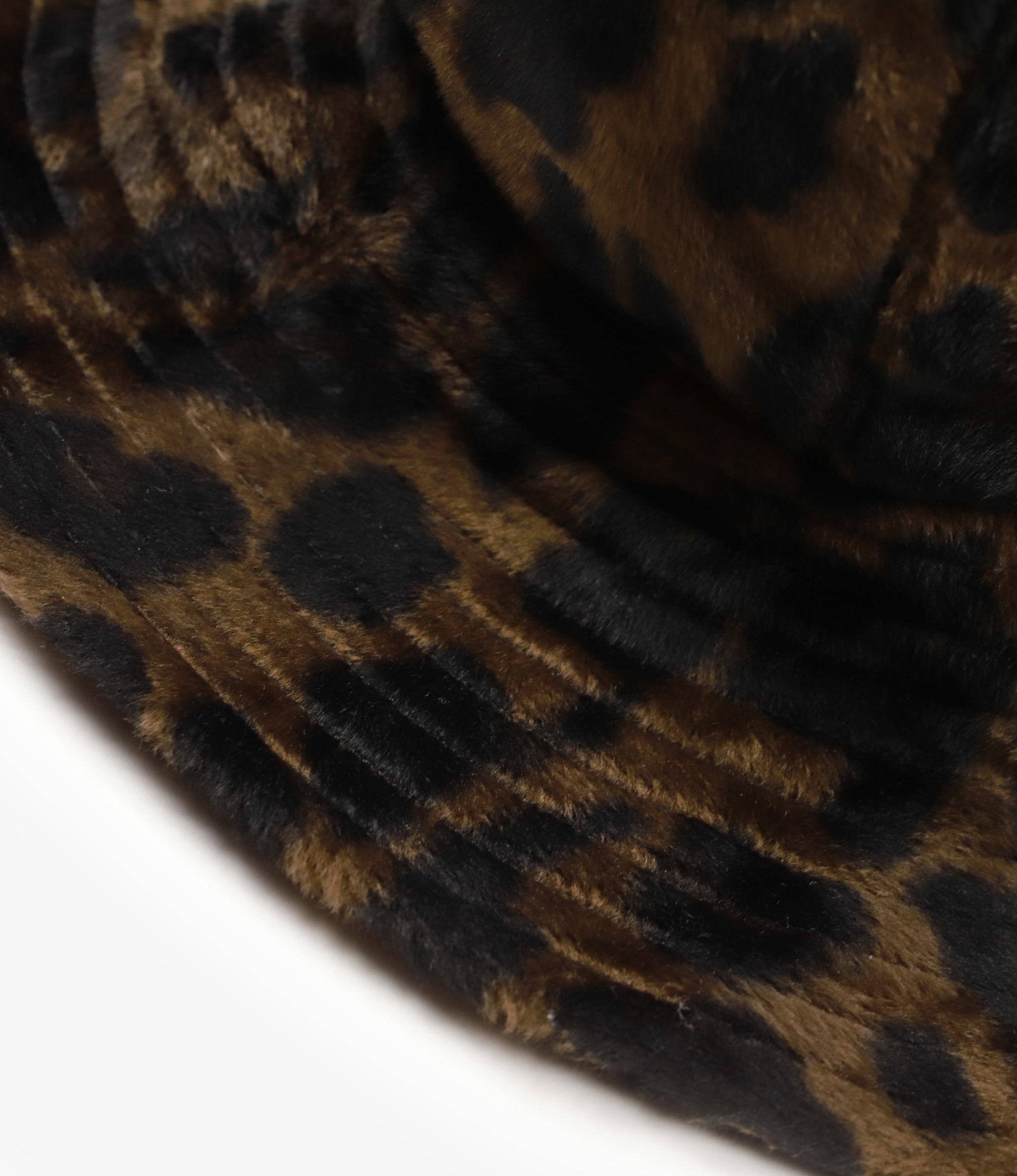 Engineered Garments Dome Hat - Dk.Brown Polyester Dark Leopard Velvet