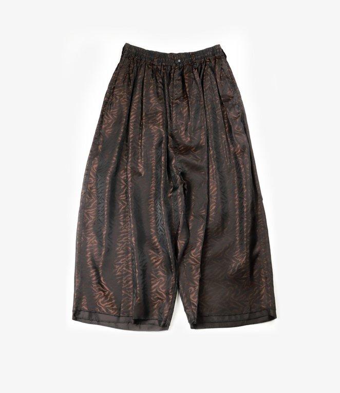 Sasquatchfabrix. LAYERED WIDE PANTS  - DARK BROWN