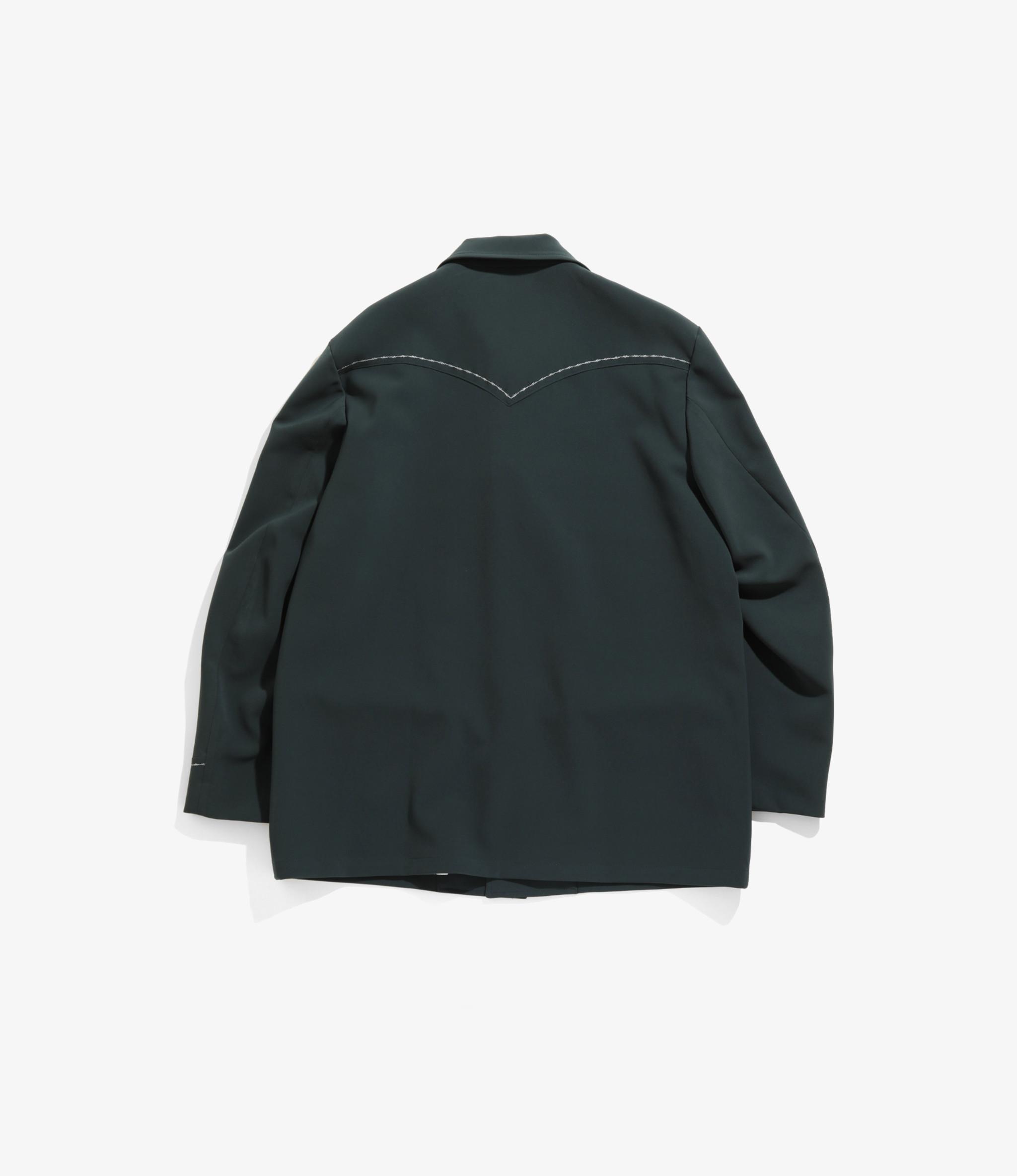 Needles Western Leisure Jacket - Pe/Pu Double Cloth - Green