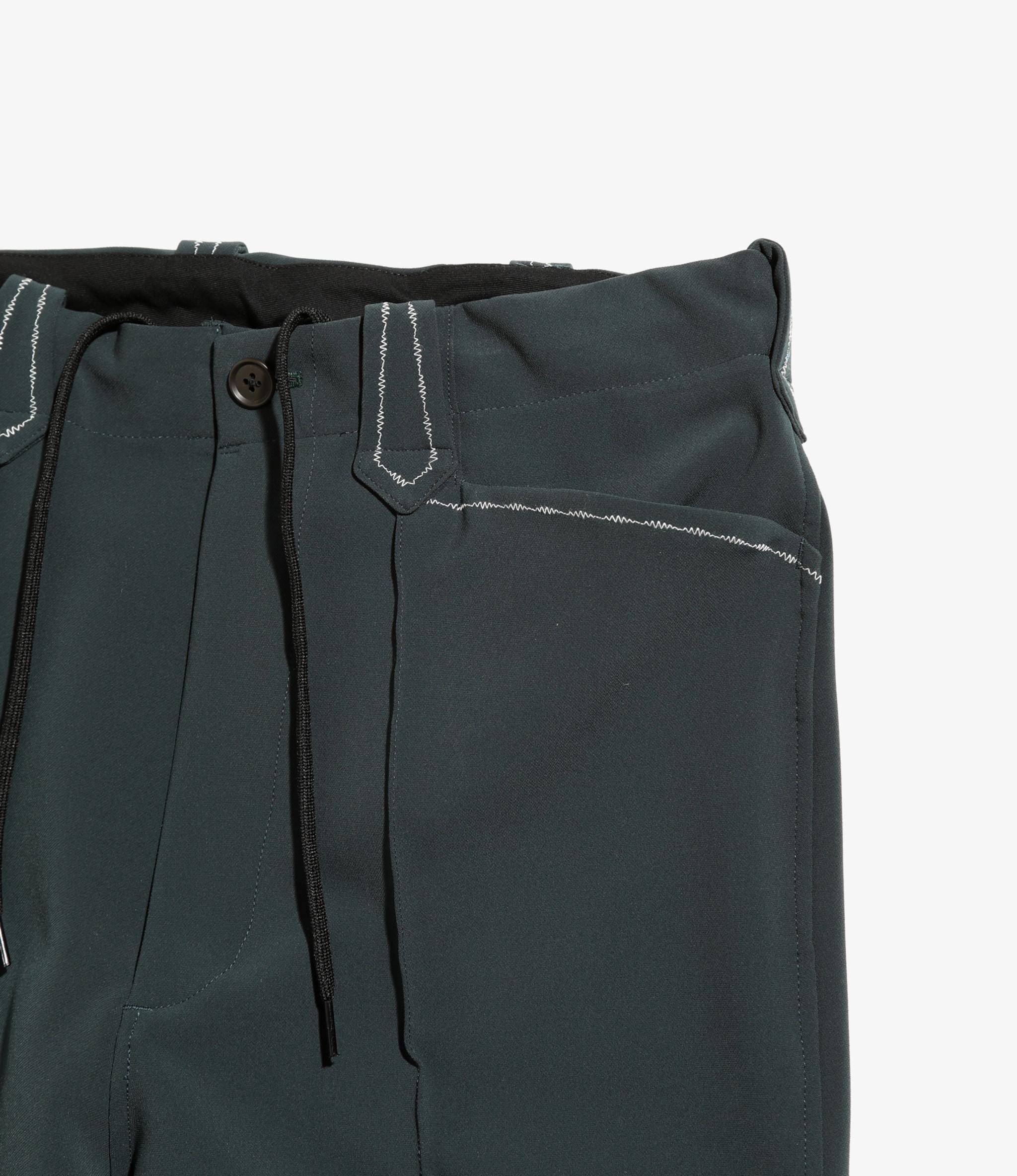 Needles Western Leisure Pant - Pe/Pu Double Cloth - Green