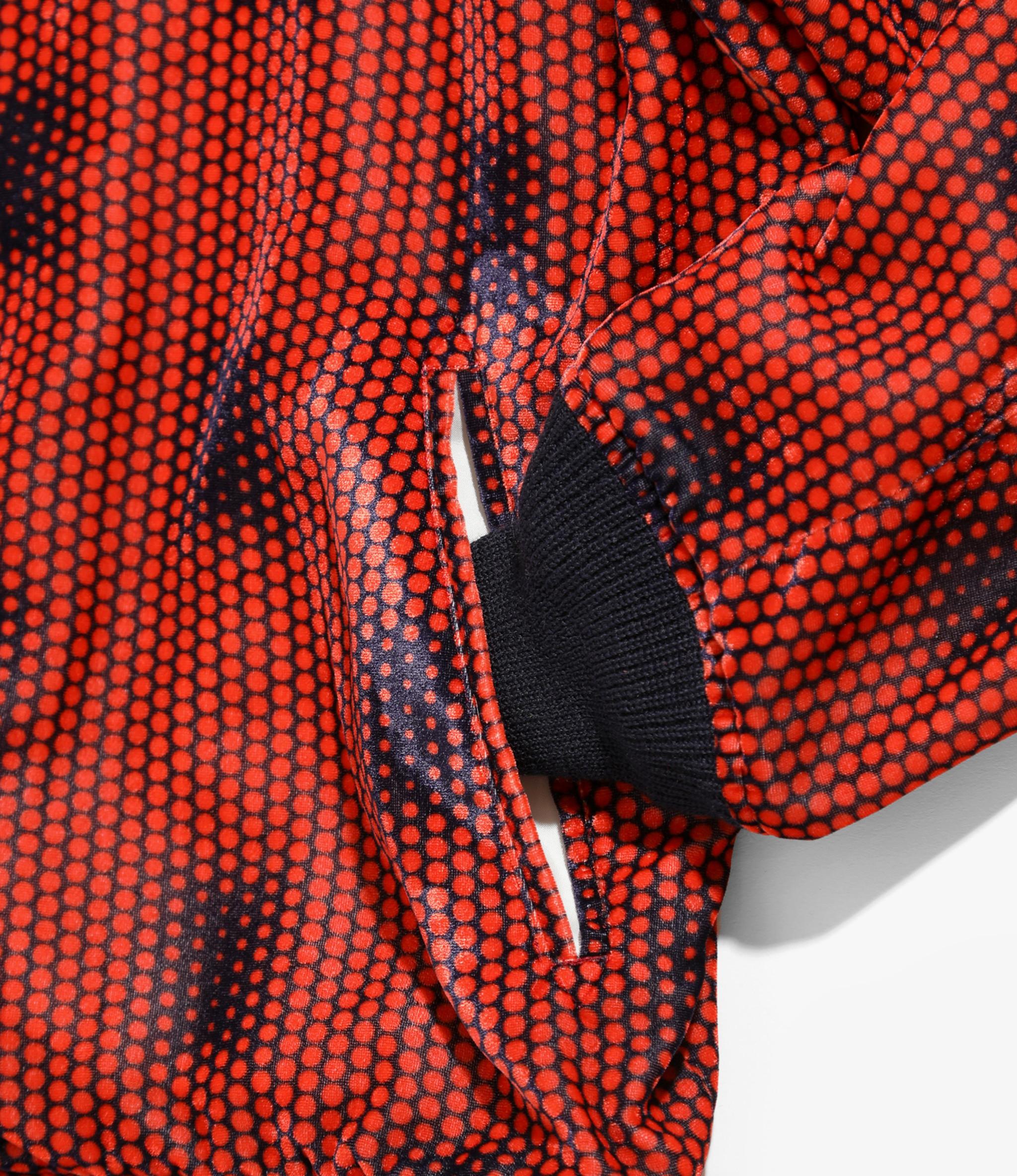 Needles B.B. Jacket - R/Pe Velvet / Pt. - Polka Dot